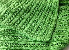 Áttört mintás tavaszi-nyári babatakaró extrafinom pamut fonalból kötve | Kössünk Lányok!