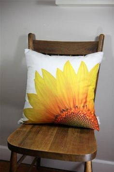Sunshine on a pillow - Sunflower Art Print throw pillow.