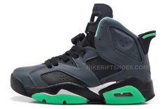 http://www.nikeriftshoes.com/women-air-jordan-6-retro-girls-blackjade-green-for-sale-online.html WOMEN AIR JORDAN 6 RETRO GIRLS BLACK/JADE GREEN FOR SALE ONLINE Only $86.00 , Free Shipping!