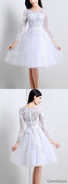 Short wedding dress that fits any body types