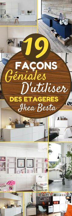 Les meubles Besta d'IKEA, c'est une collection complète de rangement, dans différentes configurations, qui doivent être fixées au mur.  Les tiroirs et les portes se ferment silencieusement, grâce à leur fermeture spécifique intégrée. En plus, la simplicité des tiroirs permet de les décorer comme bon vous semble. Les meubles Besta peuvent être utilisés un peu partout : comme meuble TV ou meuble de rangement – #ikea #idéesdéco #intérieur #maison #décoration #déco #rangement #organisation…