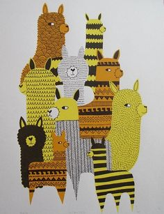 lamas :) #funny #yellow #picture