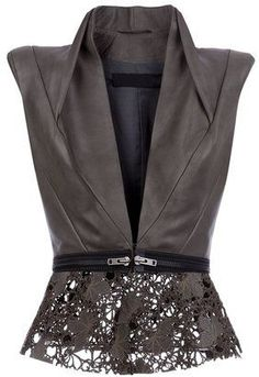 Haider Ackermann Leather Gilet