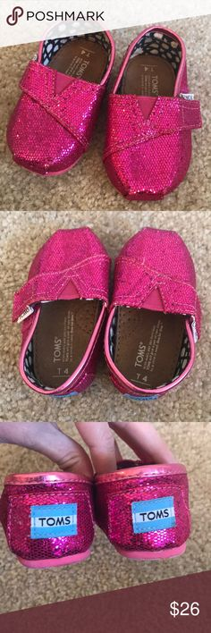 Size 4 Toddler Pink TOMS Only worn maybe twice size 4 Toddler Pink TOMS. Great condition. Toms Shoes