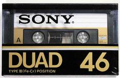 SONY/DUAD(第2世代)/パッケージ Casette Tapes, Sony Design, Sony Electronics, Hi Fi System, Philips, Time Capsule, Audio Equipment, Retro, Japan