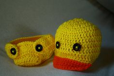 Baby Duck Newsboy Hat and Diaper Cover - Baby Photo Prop