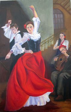 I love this painting of Flamenco Dancers