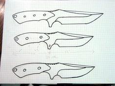 How I design my knives. Knife Template, Knife Patterns, Diy Knife, Knife Making, Recherche Google, My Design, Diy And Crafts, Printables, How To Make
