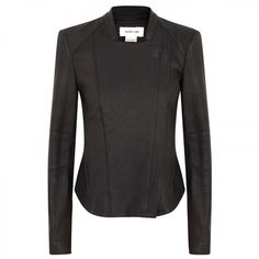 Grained Leather Jacket - Lyst