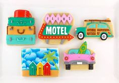 Vintage vacation cookies