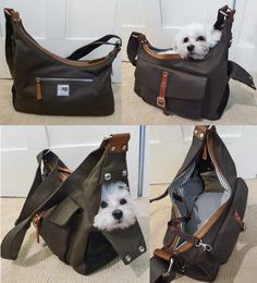 Gorgeous dog bag / pet carrier! http://www.ebay.co.uk/itm/Waxed-Canvas-Leather-Small-Dog-Bag-Pet-Carrier-shoulder-bag-sling-/181276002239?pt=UK_Home_Garden_Kitchen_Toasters&hash=item2a34e447bf