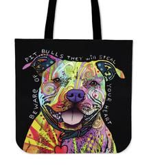"Pit Bull Tote Bag $29.99 - $12.95 Pit Bull Tote Bags  Are you a Pittie Owner who loves their Dog? Then these custom designed Premium Linen Tote Bags are a MUST HAVE! Our Premium Line Tote Bags are hand sewn using durable, yet lightweight poly cotton fabric. Each bag features a double sided print and is finished with a sturdy 1"" wide strap for comfortably carrying over the shoulder.  Each tote bag measures 17.7""x17.7"" and you can get them NOW, but only for a limited time!We ship with a USPS…"