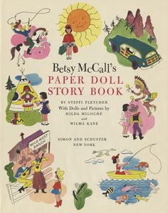 Betsy McCall Paper Doll Story Book title page and back cover