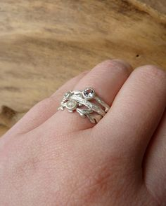 Etched in Nature Ring Set by kateszabone on Etsy Rings, Nature, Etsy, Jewelry, Naturaleza, Jewlery, Jewerly, Ring, Schmuck
