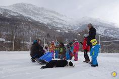 Baby Traineau activité neige Pelvoux avec des enfants