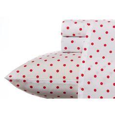 Teen Vogue Polka Dot Raspberry Wrinkle-Resistant Sheet Set - Overstock™ Shopping - Great Deals on Teen Vogue Sheets