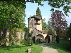 Gengenbach im Kinzigtal, der Prälatenturm, 1384 gebaut als Teil der Wehranlage, 1743 vom Abt umgebaut zum Wohnturm, Mai 2010