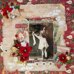 Layout: Glad tidings from scrapbook.com by user MichelleMc #graphic45 #layouts