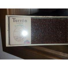 """Turrón de Chocolate con Quinoa ecológico certificado """"SOLÉ"""" en cajita de madera."""