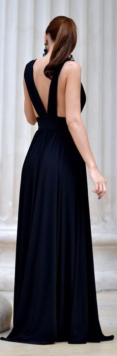 Fairytale Collection Shop Black Strappy Back Floor Length Prom Dress by My Silk Fairytale