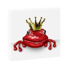 Foschkönig rot -Hochwertiger  Kunstdruck auf Leinwand -  40cm*40cm-