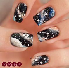 Exo-L(ove) #nailart #nails #notd #exo #galaxy
