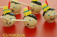 For a Disney themed party -Pinocchio cake pops