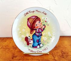 Mother's Day Plate 1982 Avon Plate Vintage Mother's by TwoArtisans