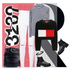 """""""Friday set............"""" by style-stories ❤ liked on Polyvore featuring Tommy Hilfiger, Marie Martens, women's clothing, women, female, woman, misses and juniors"""