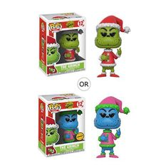 Seuss The Grinch Santa Grinch Pop! Vinyl Figure from Funko. Perfect for any Company_Funko Product Type_Pop! Grinch Santa, Dr Seuss Grinch, Grinch Stole Christmas, Dr Suess, Funko Toys, Pop Vinyl Figures, Anime Figures, Display Boxes, Toys For Girls