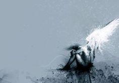 dark horror fallen angels gothic vector art fantasy wallpaper