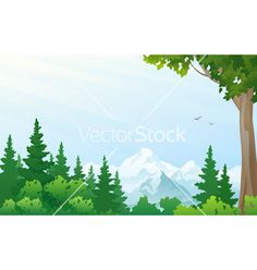 Mountain landscape vector 1480252 - by Merggy on VectorStock®