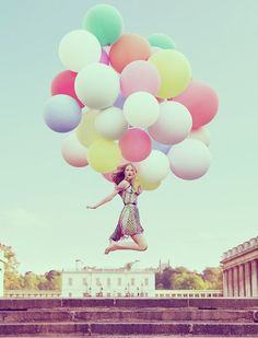balloons! I've always wanted to be carried away by balloons!