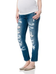 True Religion // A Pea in the Pod // Secret Fit Belly Ankle Length Skinny Leg Maternity Jeans