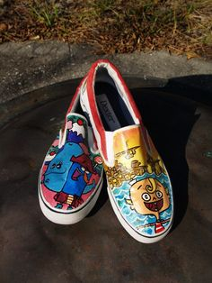 The Misadventures of FlapJack Shoes by RunnenLate on Etsy