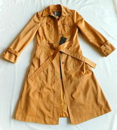 """Vintage Original """" j.gallery """" Belted Trench Coat (Caramel, Fitted 5) #jgallery"""