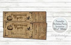 Check out this item in my Etsy shop https://www.etsy.com/listing/559122097/halloween-invitation-halloween-ticket
