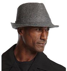 1bdd5bd2db723 sotoner® Men s Black Lake of Isles Herringbone Fedora Hat