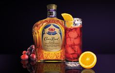 Crown Royal Red Snapper  Crown Royal - 1.5 oz.  Amaretto Liqueur - .25 oz.  Cranberry Juice - 6 oz.  Combine all the ingredients in a highball glass with ice. Stir and enjoy.