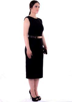 Black Scuba Midi Length Dress available now @ www.vodimthelabel.com ❤️️