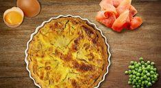 Inspira-te in bucatarie cu o reteta delicioasa de quiche cu somon si mazare.