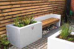 A Small Contemporary Garden - Woodpecker Garden and Landscape Designs