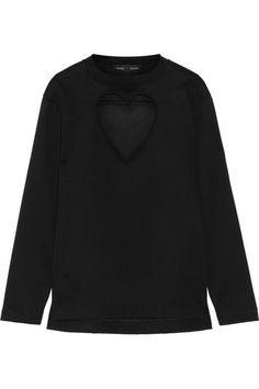 Proenza Schouler - Cutout Bonded Cotton-jersey Top - Black -
