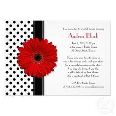 Black and White Polka Dot Bridal Shower Invitation