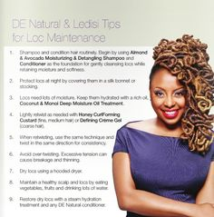 Loc Maintenance Tips by Ledisi                                                                                                                                                                                 More