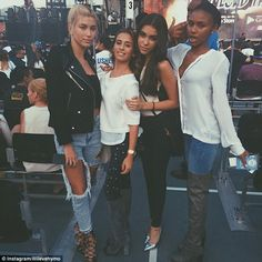 Famous friends: Lilli posted this photo of herself with 18-year-old model Hailey Baldwin (...