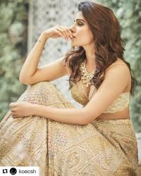 Samantha Ruth Prabhu shares a glimpse of her wedding outfit, a pre-wedding photoshoot gallery, a tailored story of lehenga love Samantha Ruth, Samantha Images, Indian Celebrities, Beautiful Celebrities, Beautiful Actresses, Beautiful Models, Beautiful Women, Samantha Wedding, Babe