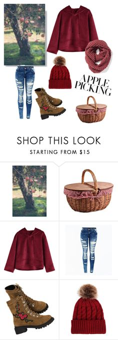 """""""🍎🍏"""" by fashionplanet01 ❤ liked on Polyvore featuring Picnic Time and Old Navy"""