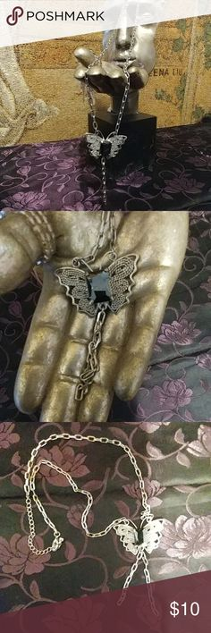 Butterfly Fashion Jewlery Adjustable Chain. Make it longer or shorter.   Pretty for dressing up any outfit. Jewelry Necklaces