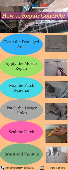 This infographic focuses on providing necessary information on concrete repair. Here you will find necessary steps to #repair #concrete.